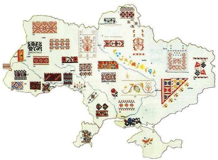 Символика орнаментов украинской народной вышивки