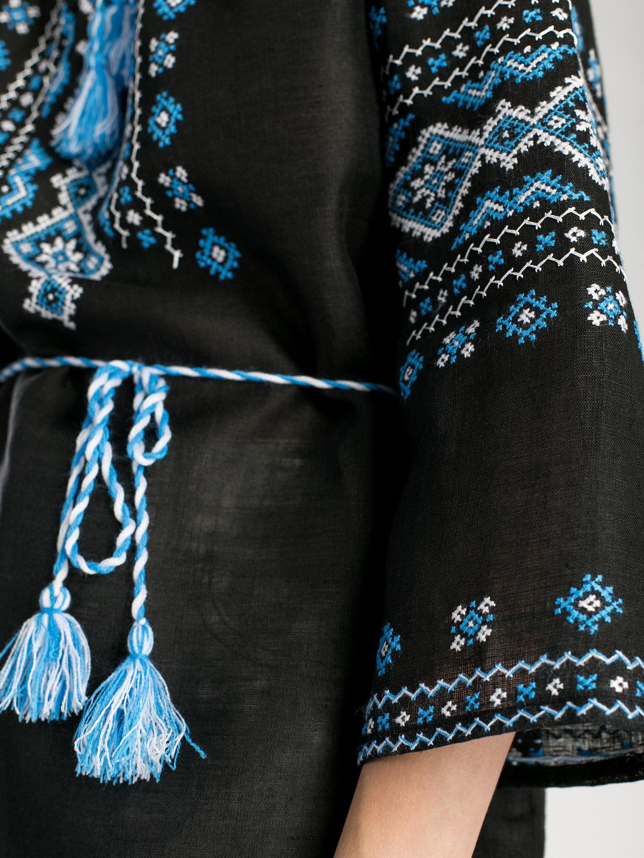 c1061c8c72 Women s black handmade embroidered shirt of linen F11 – buy in Kyiv ...