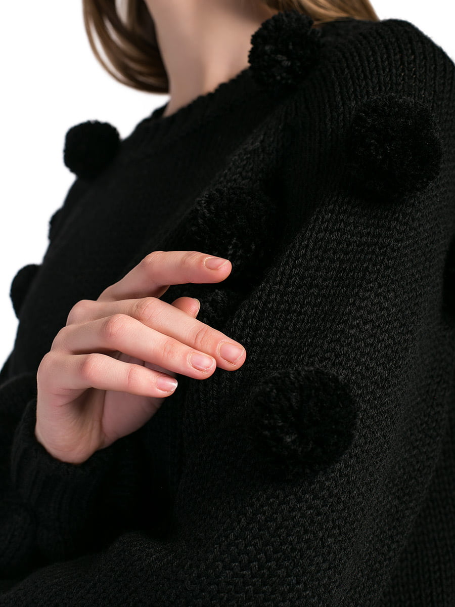 Women sweater BLACK BOBBLE