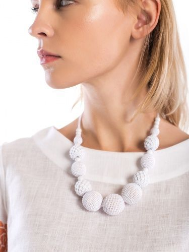 White Necklace Nec6