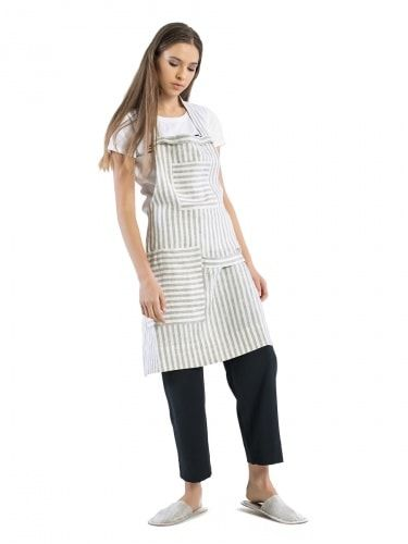 Apron kitchen of linen Striped Chef