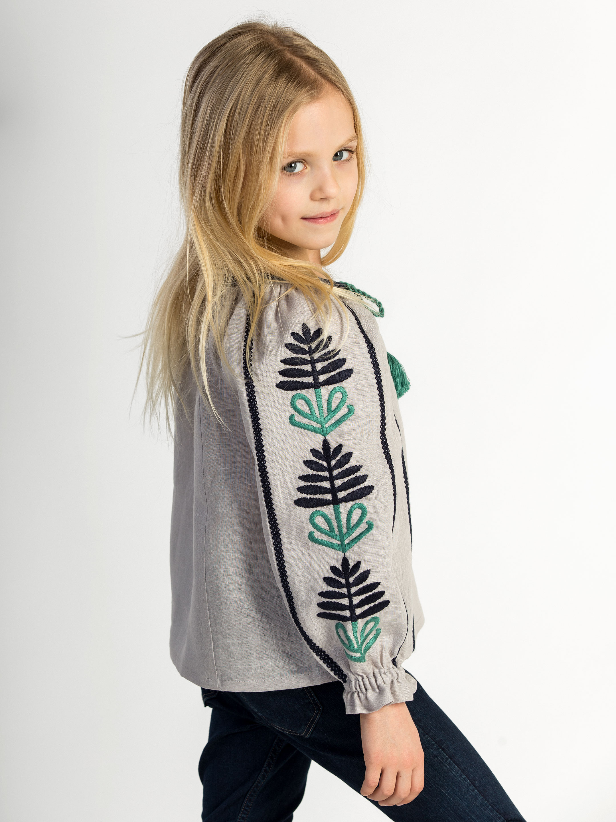 Embroidered shirt for girls Bonsai Day Kids 7