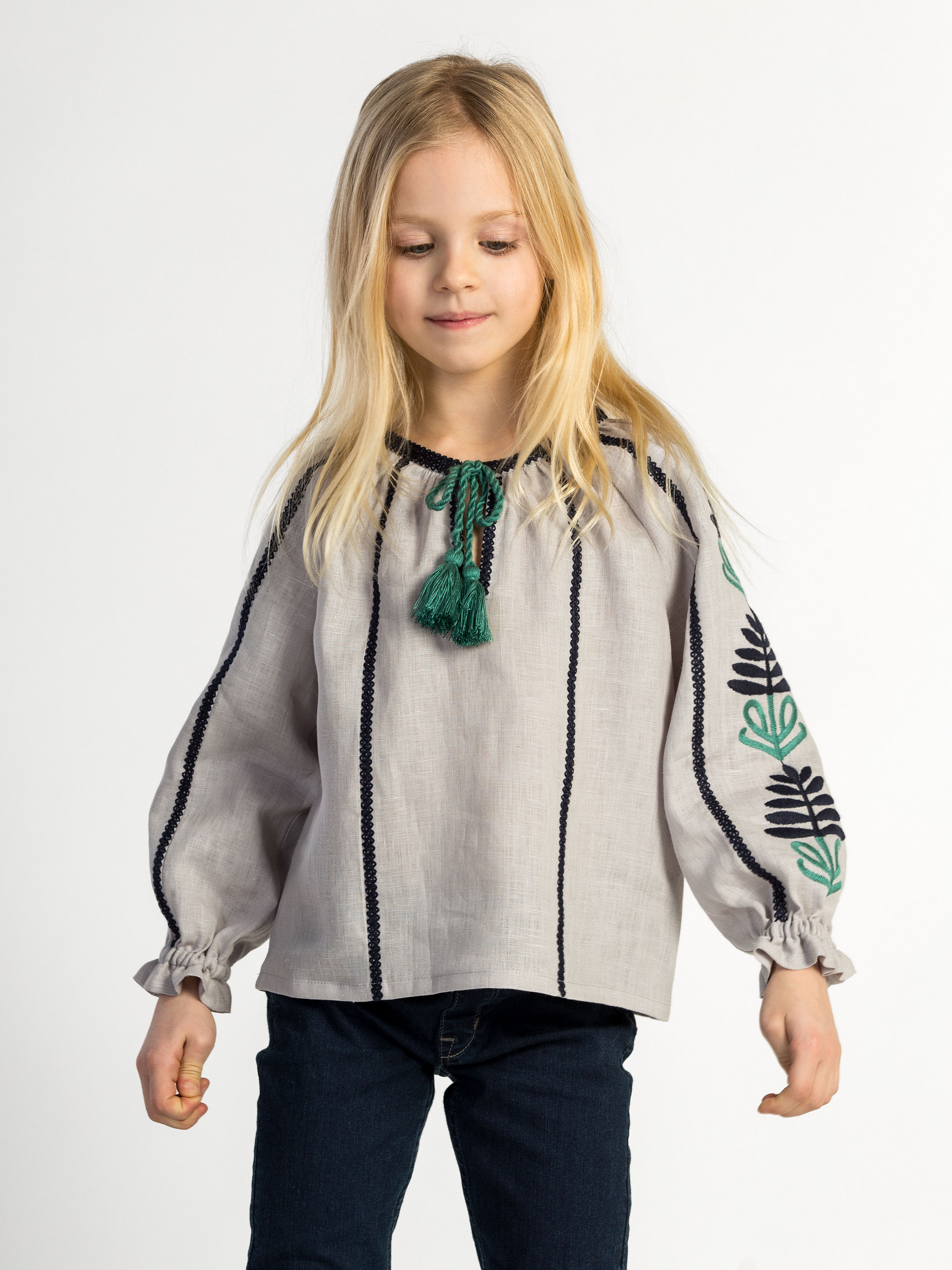 Embroidered shirt for girls Bonsai Day Kids 4