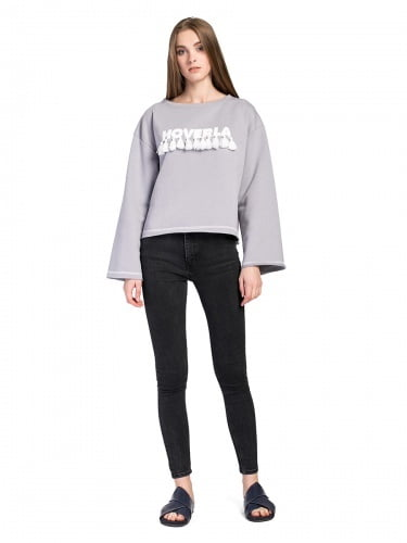 Women sweatshirt HOVERLA Grey