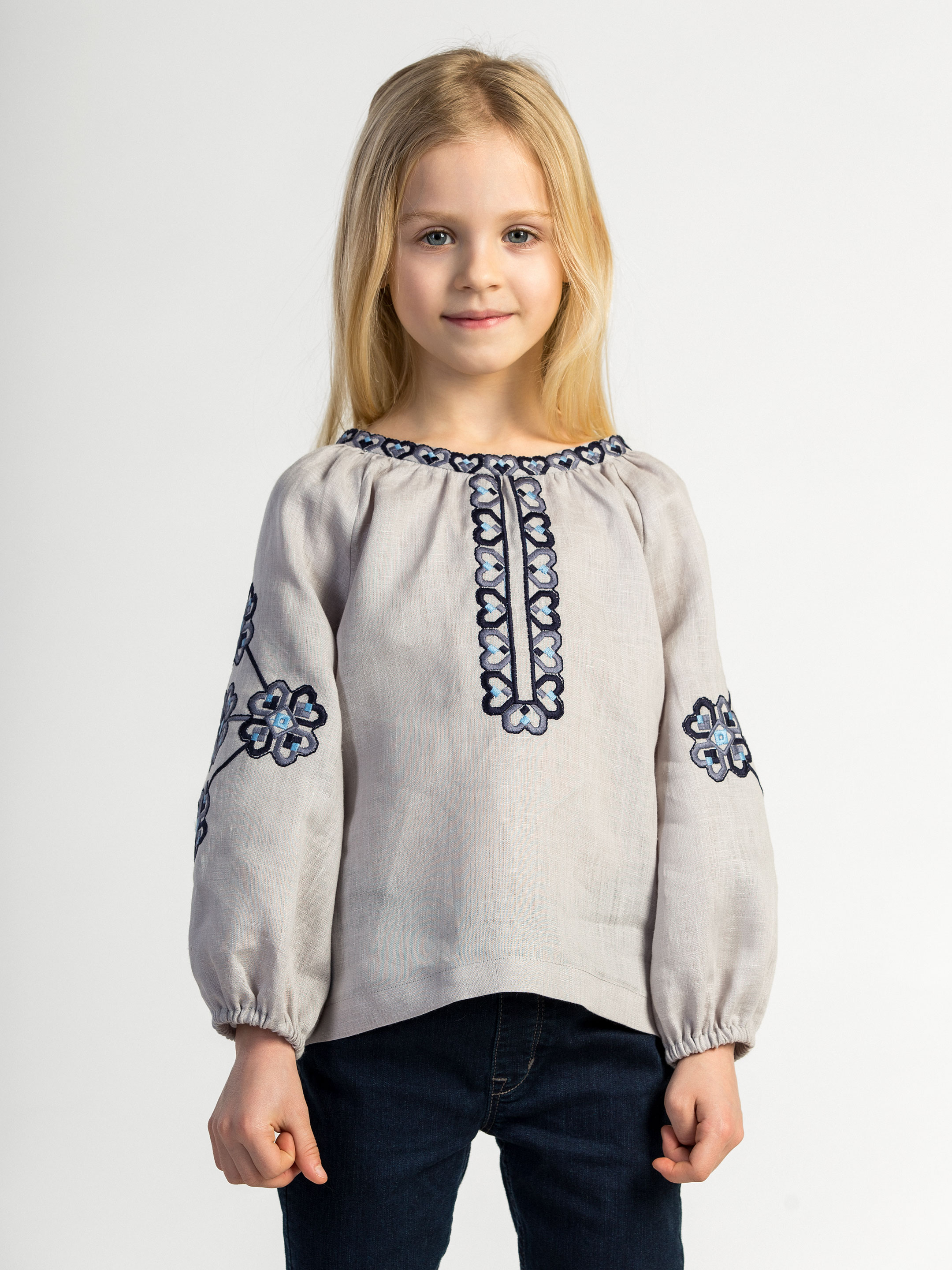 Embroidered shirt for girls Heart