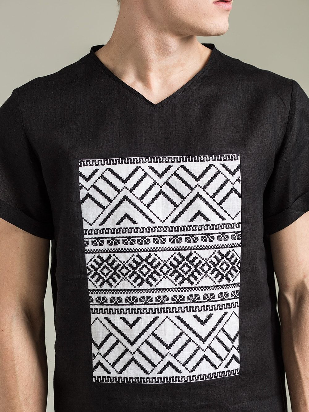 Чоловіча футболка Linen BL Футболка Linen Ethno accf45e22aca5