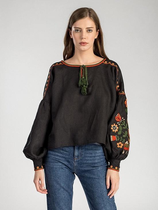 Чорні жіночі вишиванки – купити чорну вишиту сорочку в Києві c9cbccd8ed02f