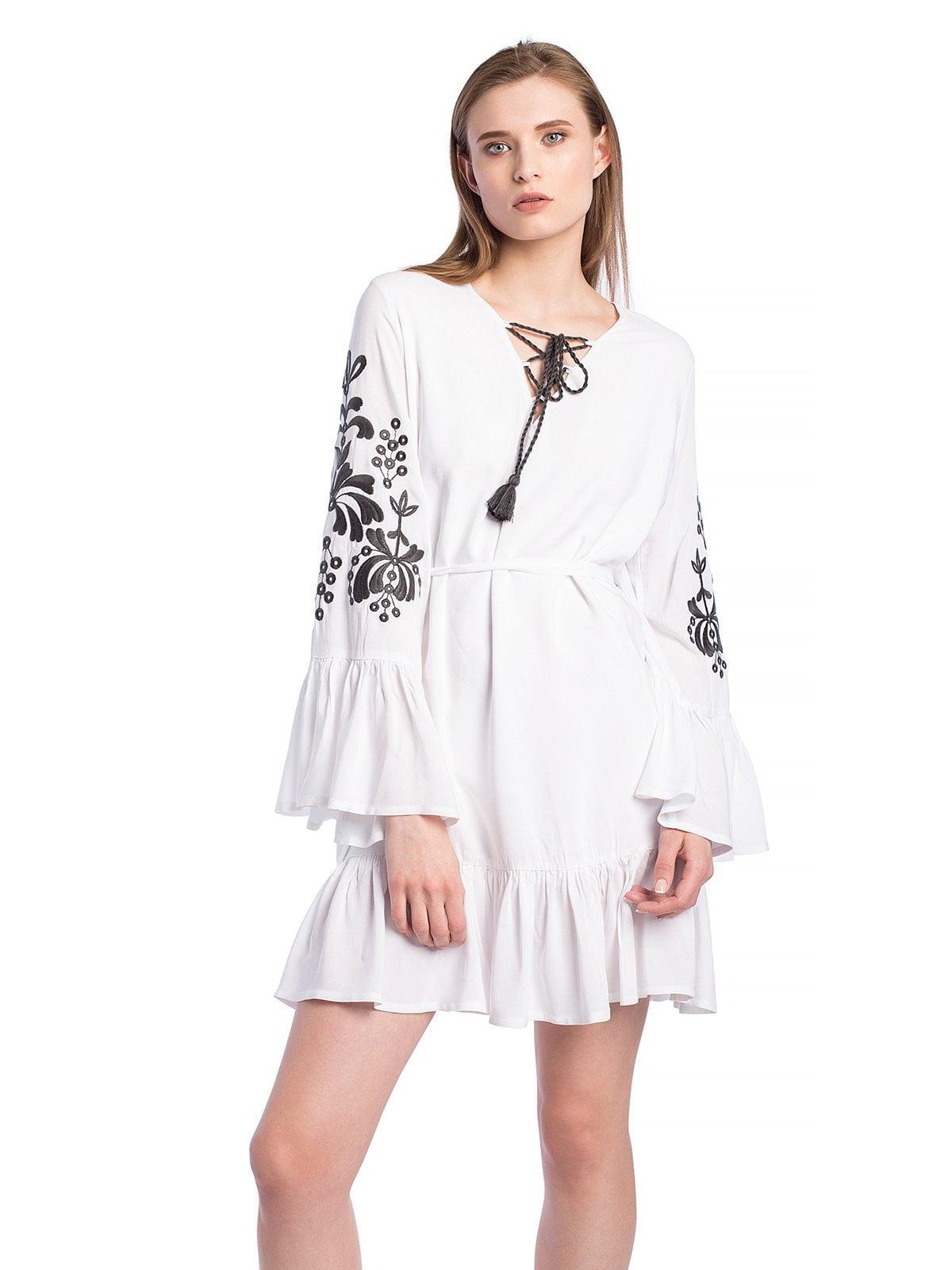 25021581f9b Белое платье с вышивкой и воланами BELLS WHITE – купить в Киеве и ...