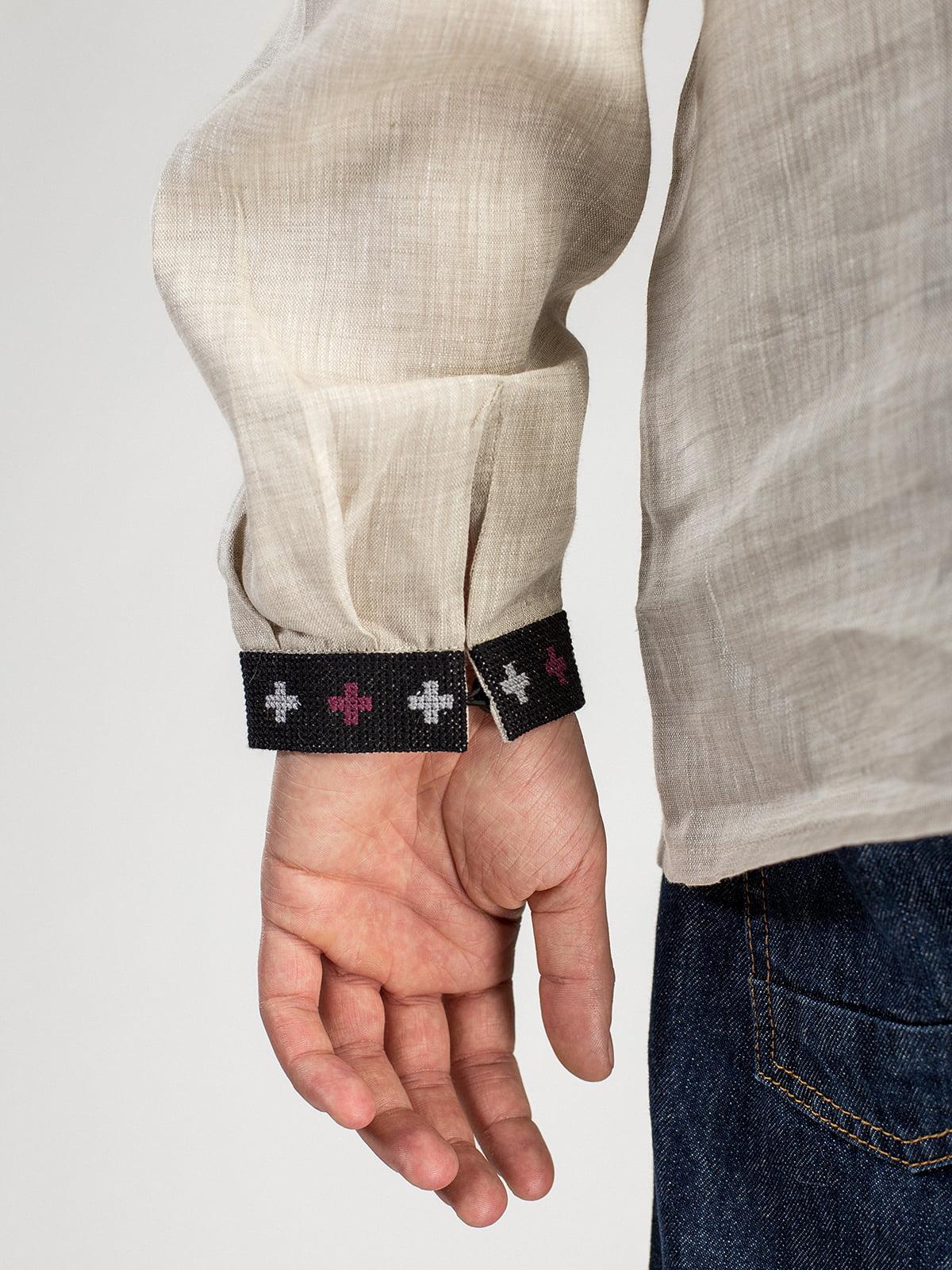 Чоловіча дизайнерська вишиванка з сірого льону ED18 – купити в Києві ... 767bc24d9808f