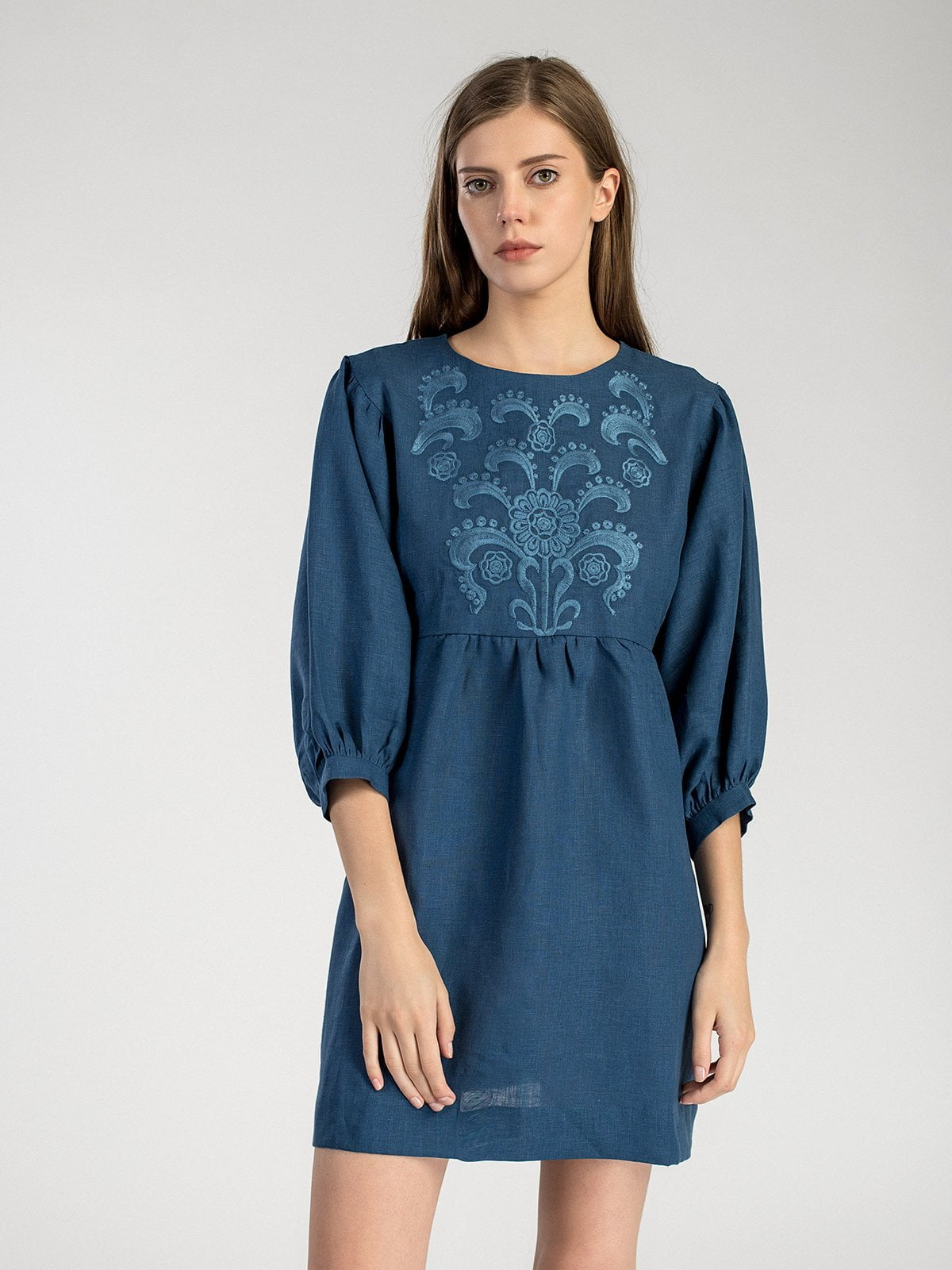 64f468dbc45 Linen dress with embroidery Moon Light – buy in Kyiv and Ukraine ...