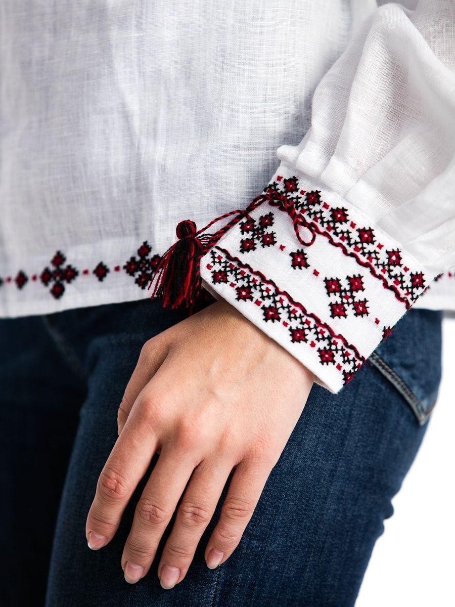 Женская вышиванка ручной работы с манжетами С13 Фото 5